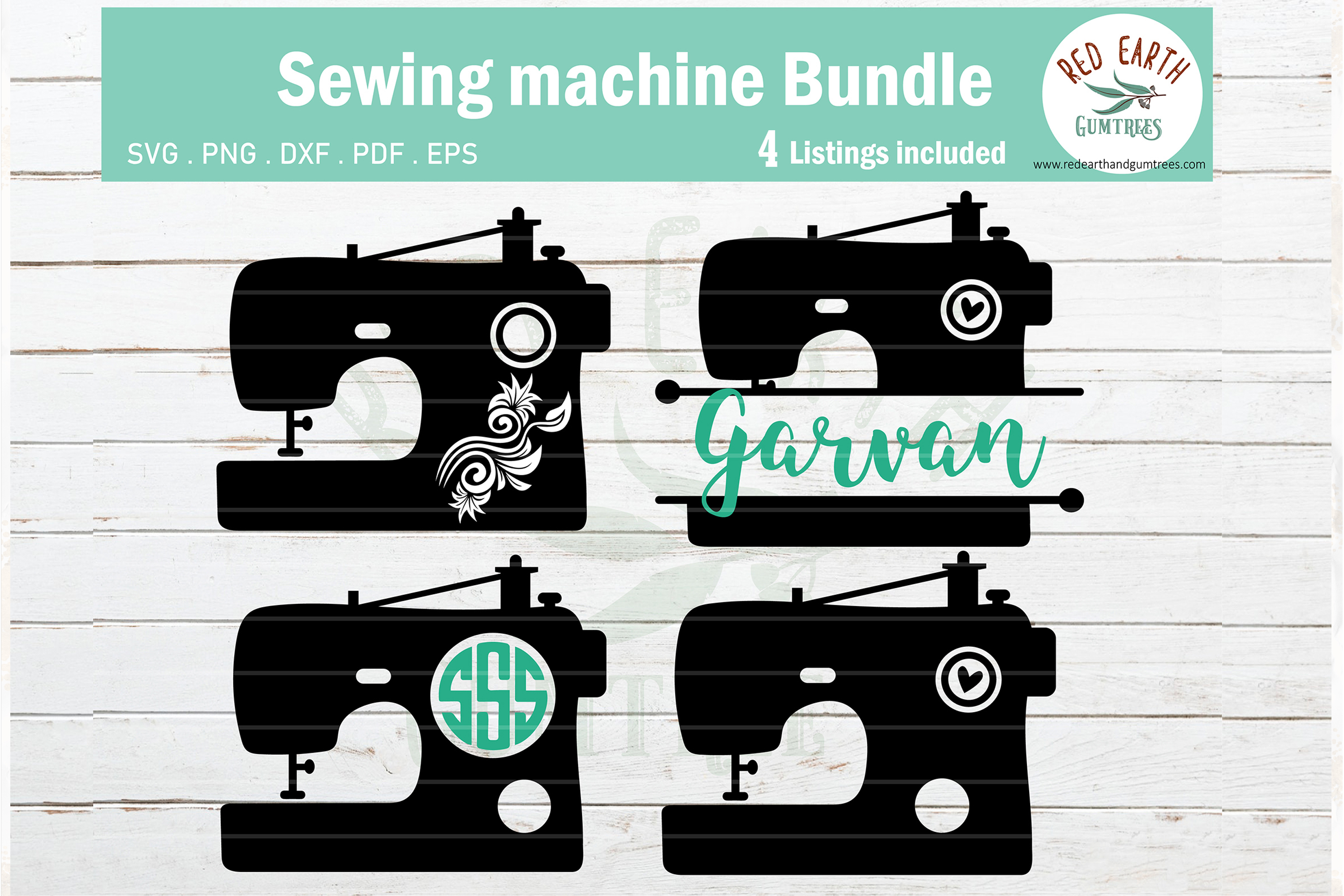 Download Free Sewing Machine Svg Sewing Monogram Svg Graphic By Redearth And for Cricut Explore, Silhouette and other cutting machines.