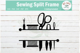 Sewing Split Monogram Frame  Graphic Crafts By redearth and gumtrees