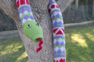 Shape Teaching Fair Isle Snake Pattern Graphic Crochet Patterns By Knit and Crochet Ever After