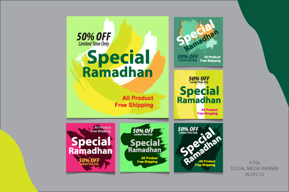 Download Free Social Media Banner Special Ramadhan Graphic By Koes Design for Cricut Explore, Silhouette and other cutting machines.