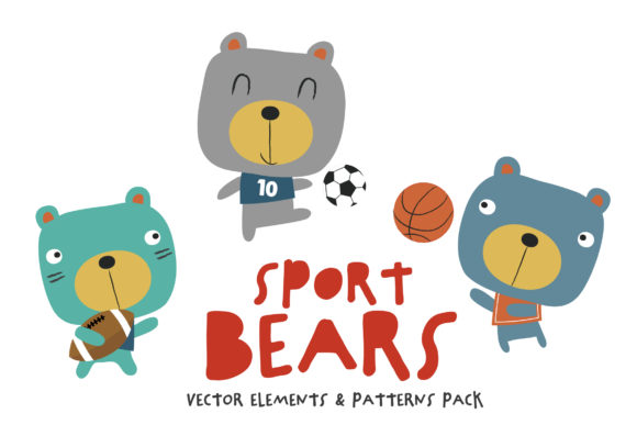 Sport Bears Pack Graphic Illustrations By SmartDesigns