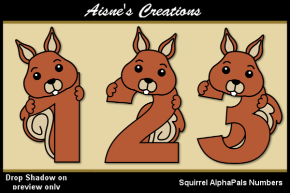 Download Free Squirrel Alpha Pals Numbers Graphic By Aisne Creative Fabrica for Cricut Explore, Silhouette and other cutting machines.