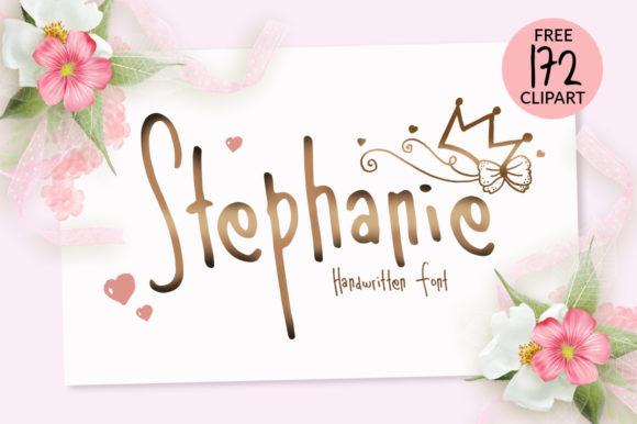 Print on Demand: Stephanie Script & Handwritten Font By Fillo Graphic