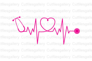 Download Free Stethoscope Heartbeat Nurse Graphic By Cutfilesgallery for Cricut Explore, Silhouette and other cutting machines.
