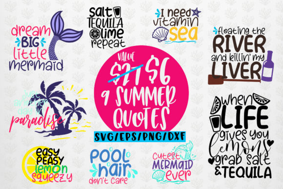 Download Free Summer And Mermaid Bundles Grafico Por Coralcutssvg Creative for Cricut Explore, Silhouette and other cutting machines.