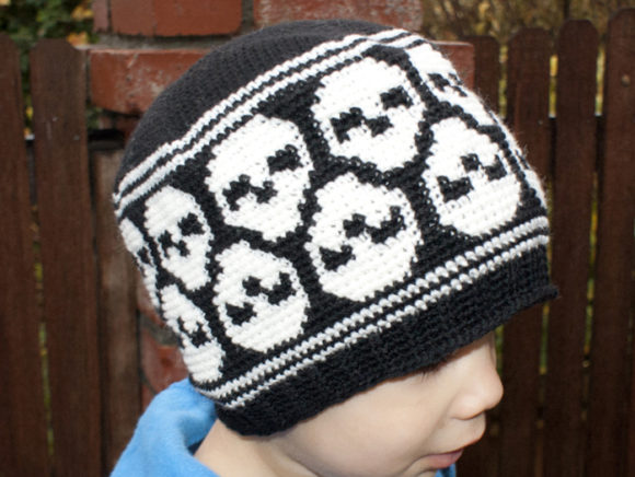 Super Skull Beanie Crochet Pattern Graphic Crochet Patterns By Knit and Crochet Ever After