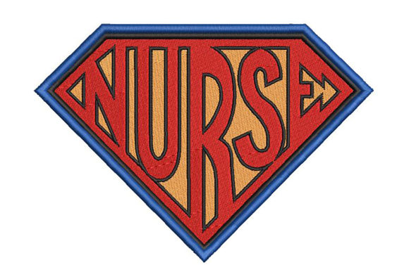 Print on Demand: Supernurse Superhero Awareness Embroidery Design By Embroidery Shelter