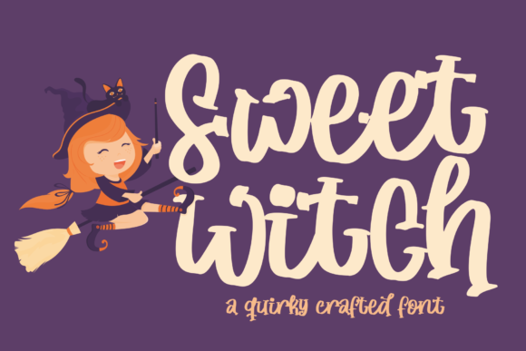 Print on Demand: Sweet Witch Display Font By Azetype