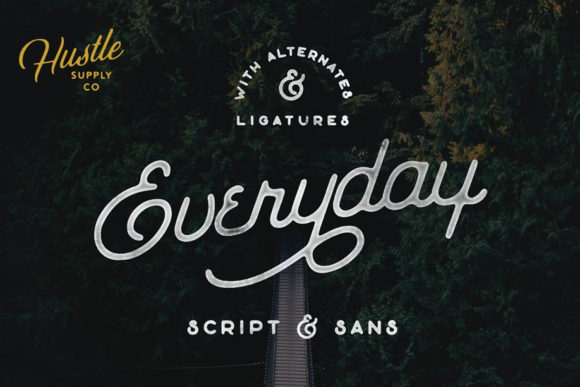 Print on Demand: The Everyday Script & Handwritten Font By Hustle Supply Co.