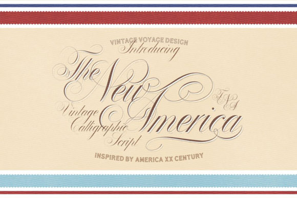 Print on Demand: The New America Script & Handwritten Font By vintagevoyageco