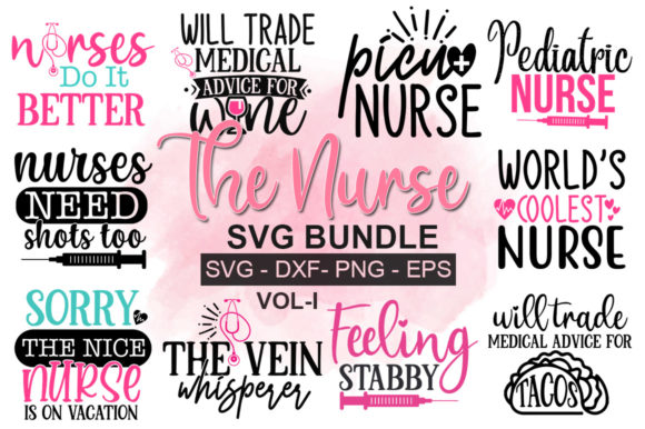 Print on Demand: The Nurse Bundle Graphic Print Templates By Designdealy.com