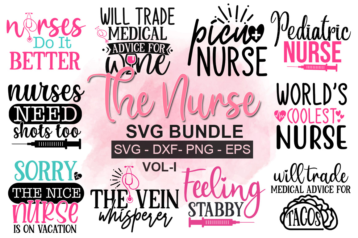 Download Free The Nurse Bundle Graphic By Designdealy Com Creative Fabrica for Cricut Explore, Silhouette and other cutting machines.