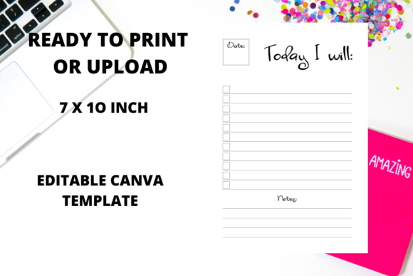 Download Free To Do List Kdp Interior Canva Template Graphic By Fleur De Tango for Cricut Explore, Silhouette and other cutting machines.