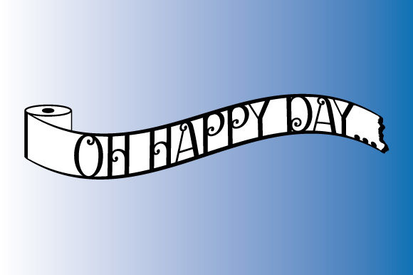 Download Free Toilet Paper Oh Happy Day Ribbon Banner Graphic By Graphicsfarm for Cricut Explore, Silhouette and other cutting machines.