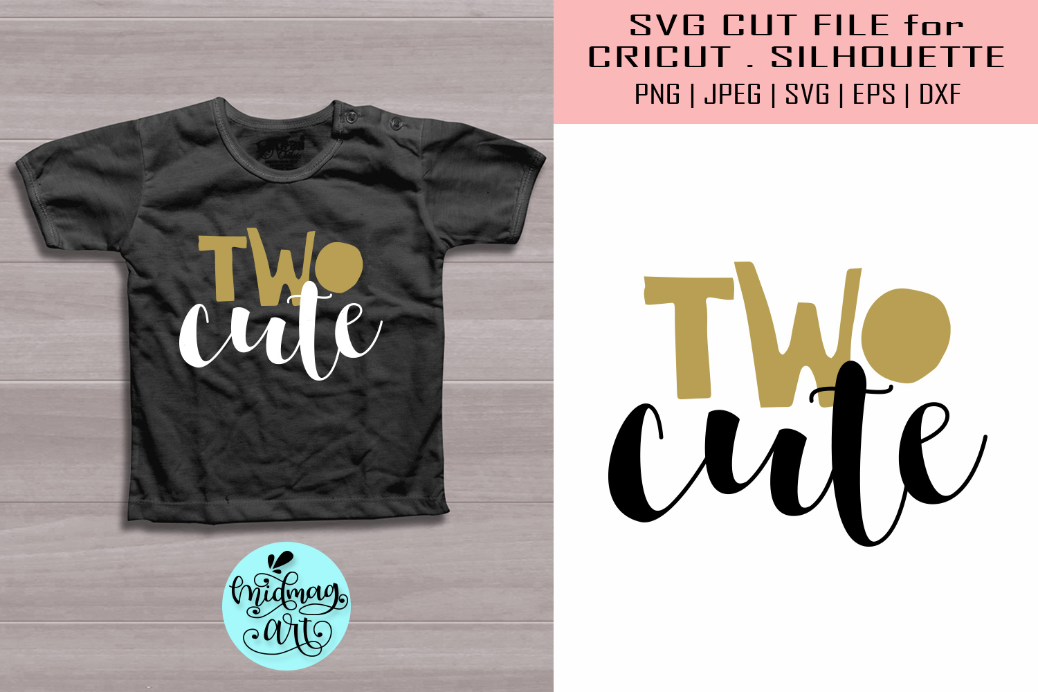 Download Free Two Cute Second Birthday Graphic By Midmagart Creative Fabrica for Cricut Explore, Silhouette and other cutting machines.
