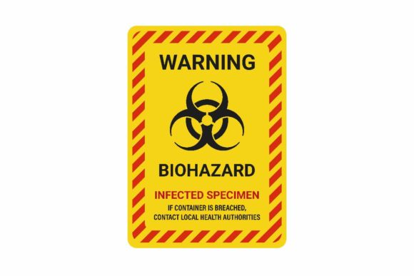 Download Free Warning Biohazard Poster Information Grafico Por Aryo Hadi for Cricut Explore, Silhouette and other cutting machines.