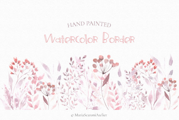 Print on Demand: Watercolor Floral Set Graphic Illustrations By MariaScaroniAtelier - Image 4