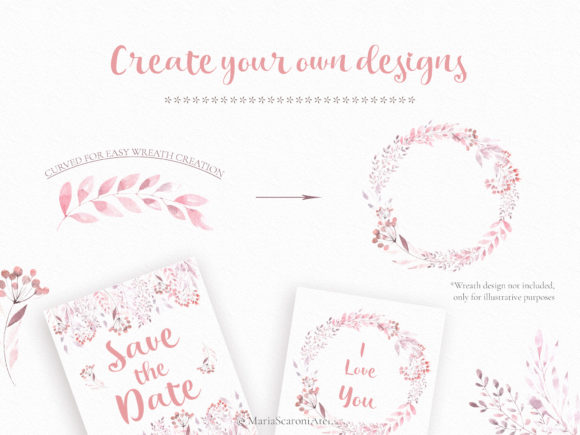 Print on Demand: Watercolor Floral Set Graphic Illustrations By MariaScaroniAtelier - Image 6