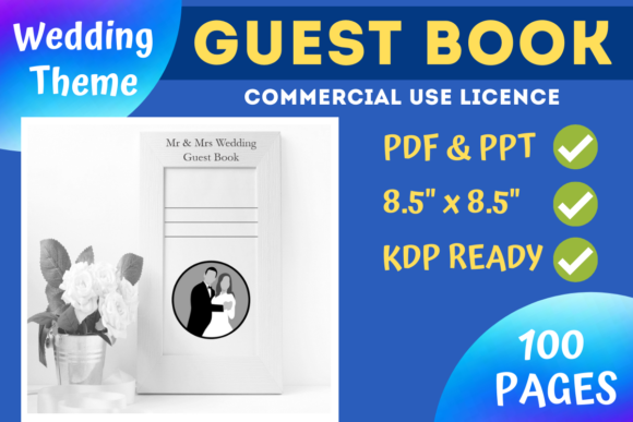 Print on Demand: Wedding Guest Book | KDP Interior Graphic KDP Interiors By Mastery Templates