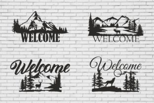 Welcome Sign, Cutting Files, Nature Graphic Product Mockups By Fast Store
