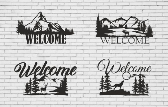 Welcome Sign, Cutting Files, Nature Graphic Product Mockups By bn3300877