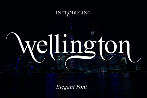 Print on Demand: Wellington Sans Serif Font By ed.creative