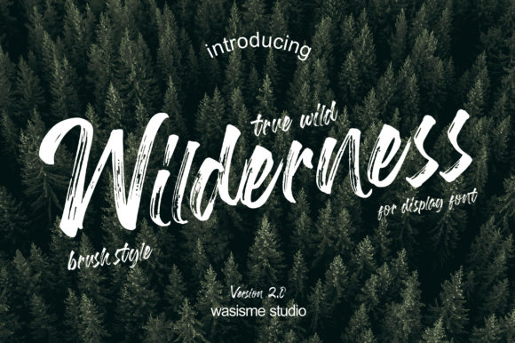Print on Demand: Wilderness Display Font By Wasisme Studio