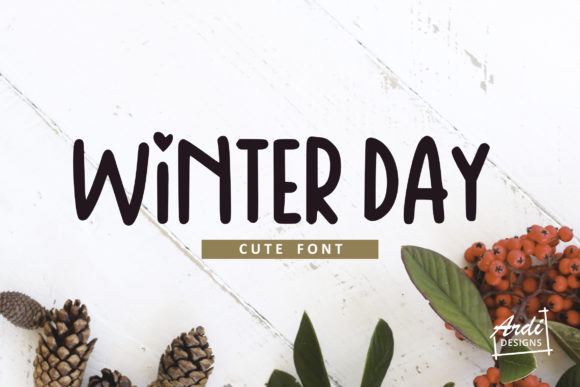 Print on Demand: Winter Day Display Font By ArdiDesigns