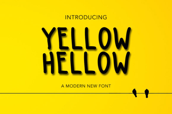 Print on Demand: Yellow Hellow Script & Handwritten Font By morningmondayy