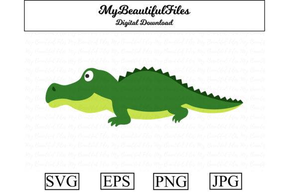 Download Free Crocodile Clipart Graphic By Mybeautifulfiles Creative Fabrica for Cricut Explore, Silhouette and other cutting machines.