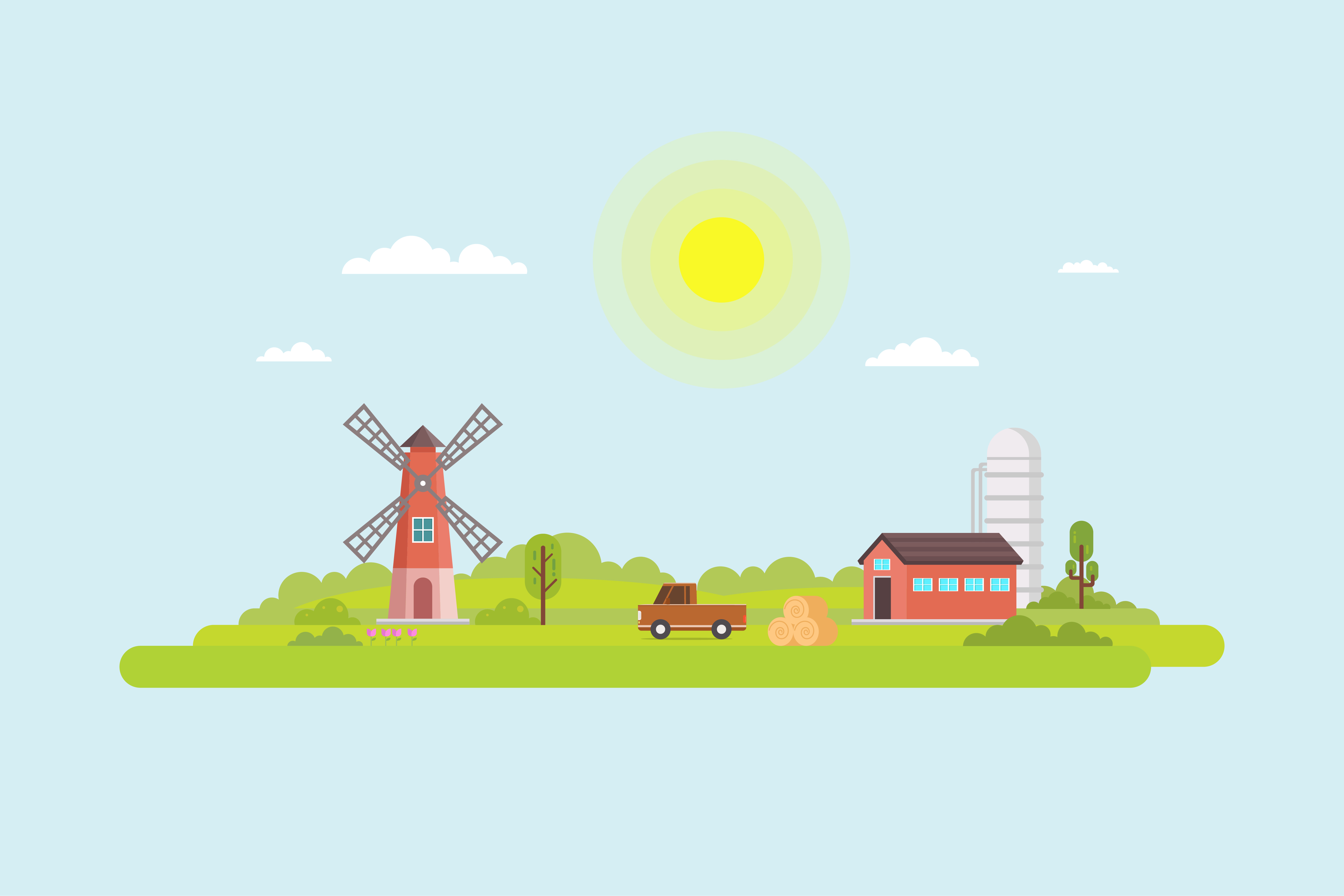 Download Free Illustration Of Agriculture Graphic By Sabavector Creative Fabrica for Cricut Explore, Silhouette and other cutting machines.