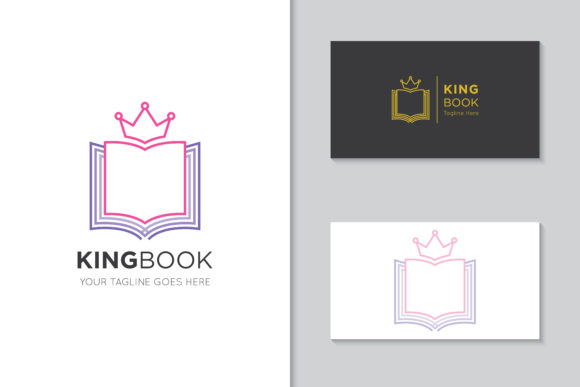 Download Free King Book Logo Icon Symbol Vector Graphic By Amindachoirunanaz for Cricut Explore, Silhouette and other cutting machines.