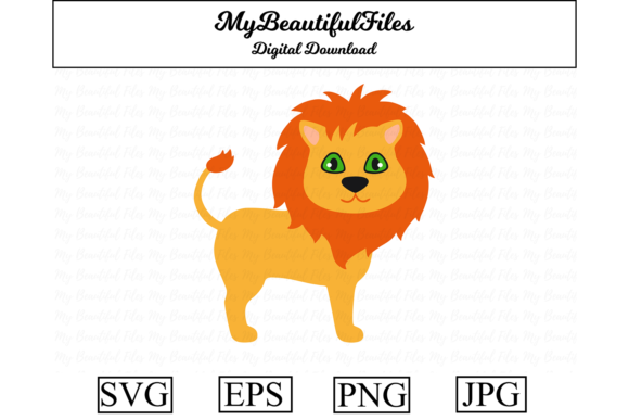 Download Free Lion Clipart Graphic By Mybeautifulfiles Creative Fabrica SVG Cut Files