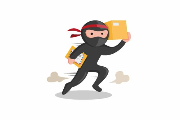 Print on Demand: Ninja Courier Express Delivery Service Graphic Illustrations By aryo.hadi