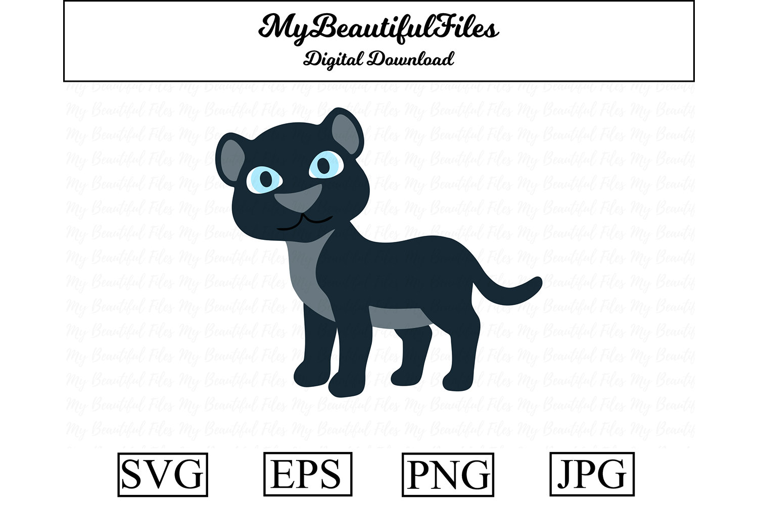 Download Free Panther Clipart Graphic By Mybeautifulfiles Creative Fabrica for Cricut Explore, Silhouette and other cutting machines.