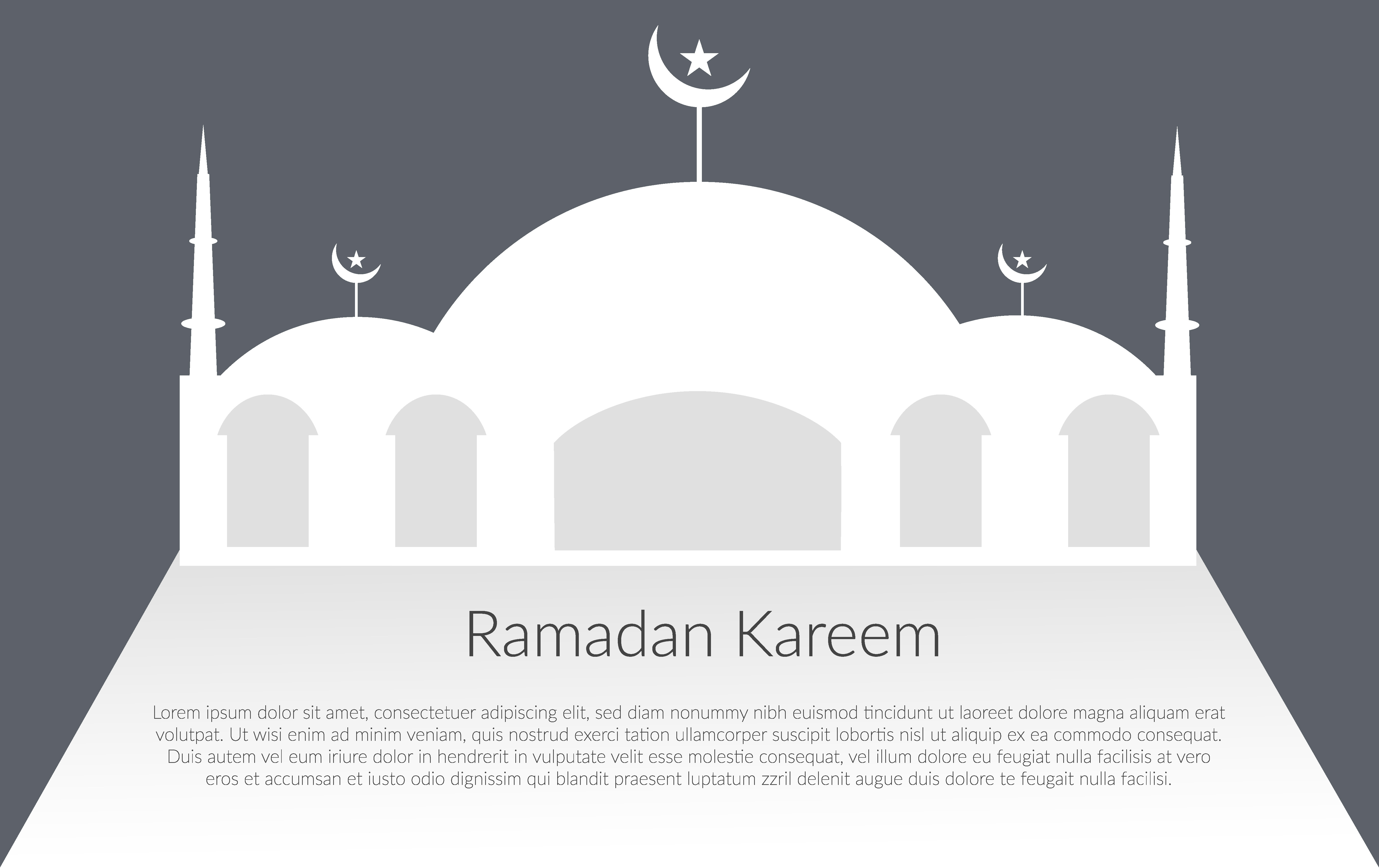 Download Free Ramadan Kareem Mosque Graphic By Usmanfirdaus446 Creative Fabrica for Cricut Explore, Silhouette and other cutting machines.