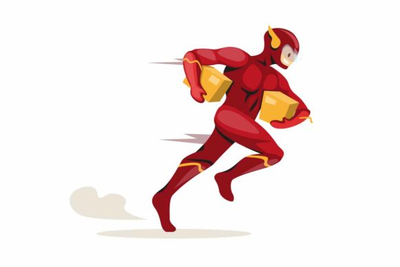 Download Free Superhero Running Carrying Package Courier Graphic By Aryo Hadi SVG Cut Files