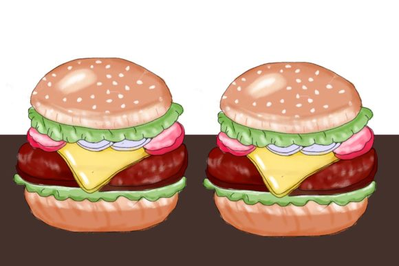 Watercolor Burger Graphic Illustrations By griyolabs