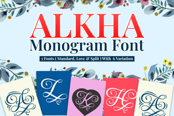 Print on Demand: Alkha Decorative Font By Holydie Studio