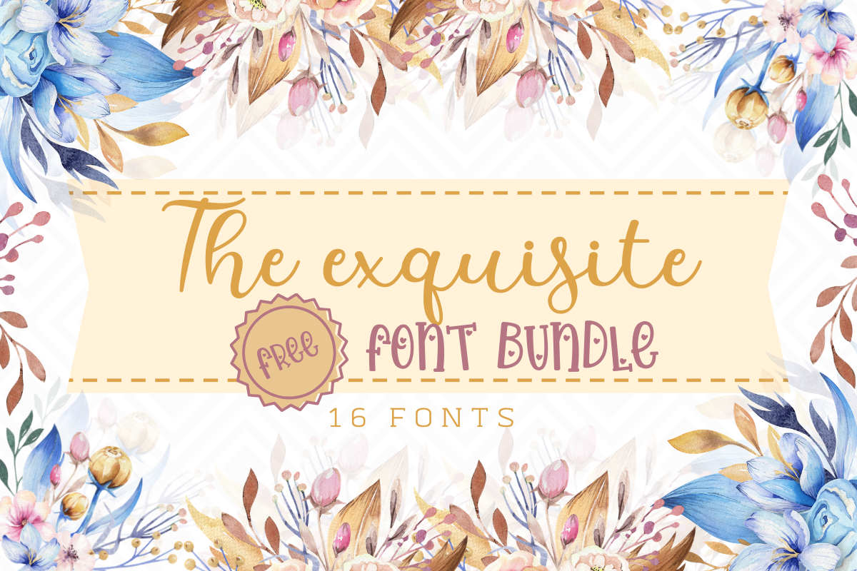 Download Free The Exquisite Free Font Bundle Bundle Creative Fabrica for Cricut Explore, Silhouette and other cutting machines.