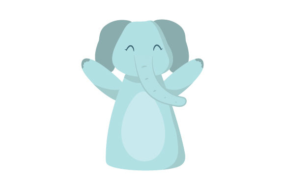 Download Free Elephant Puppet Svg Cut File By Creative Fabrica Crafts for Cricut Explore, Silhouette and other cutting machines.