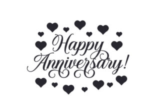 Happy Anniversary! Anniversary Craft Cut File By Creative Fabrica Crafts