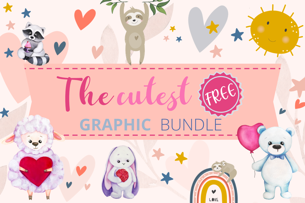 Download Free The Cutest Free Graphic Bundle Bundle Creative Fabrica for Cricut Explore, Silhouette and other cutting machines.