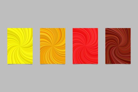 4 Abstract Page Backgrounds Graphic Print Templates By davidzydd