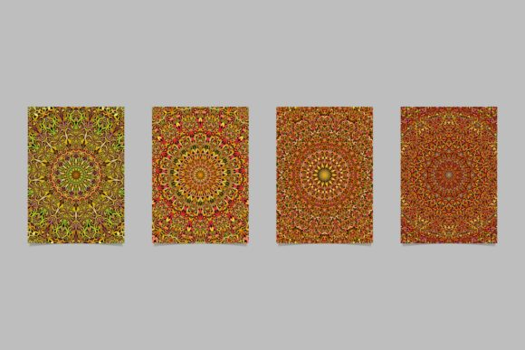 4 Floral Mandala Page Backgrounds Graphic Print Templates By davidzydd