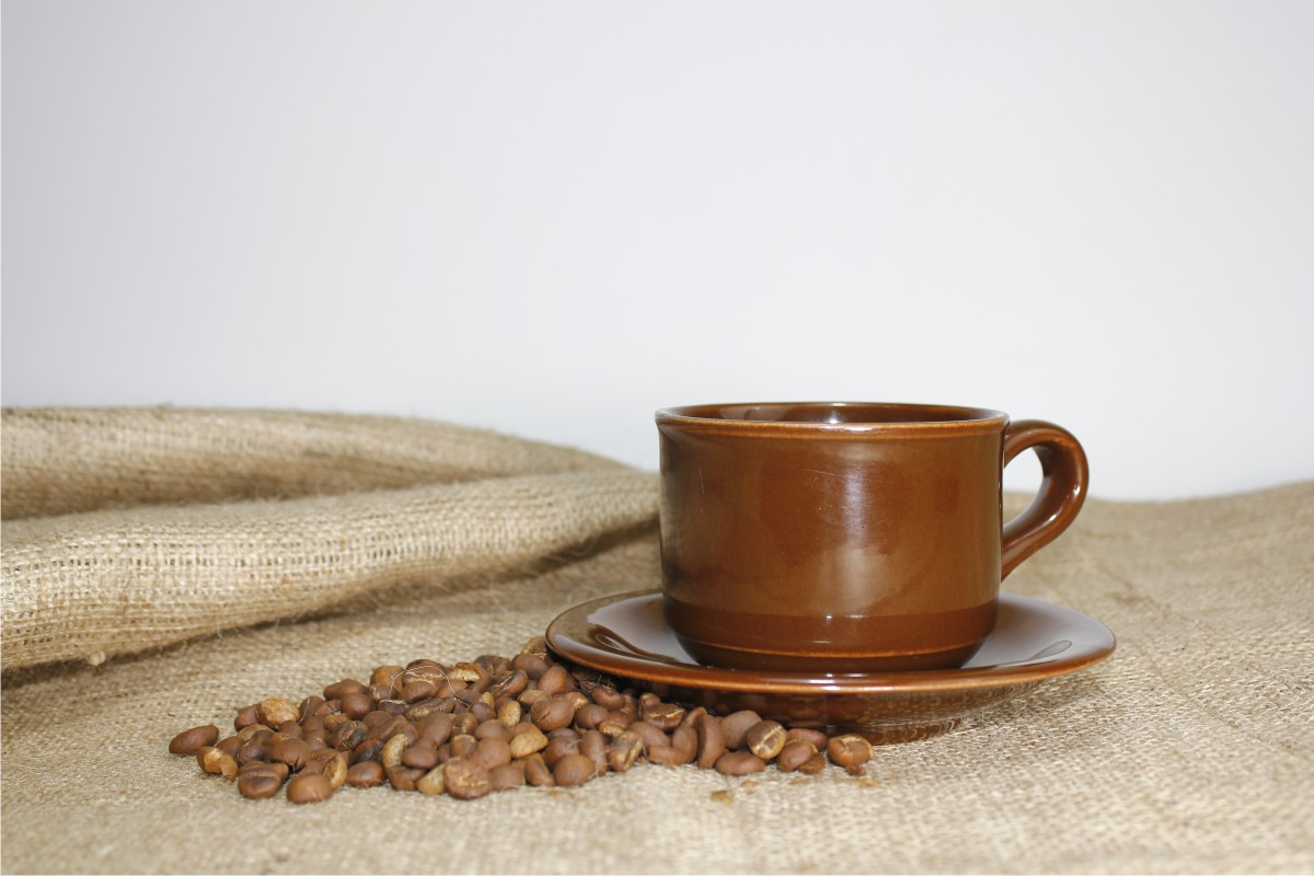Download Free A Cup Of Coffee And Coffee Beans Graphic By Bintangcreative SVG Cut Files
