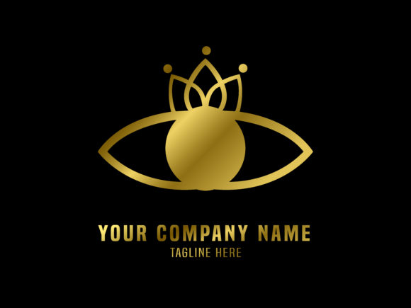 Download Free Abstract Logo Vector Gold Eyes Graphic By Valiqaproject for Cricut Explore, Silhouette and other cutting machines.