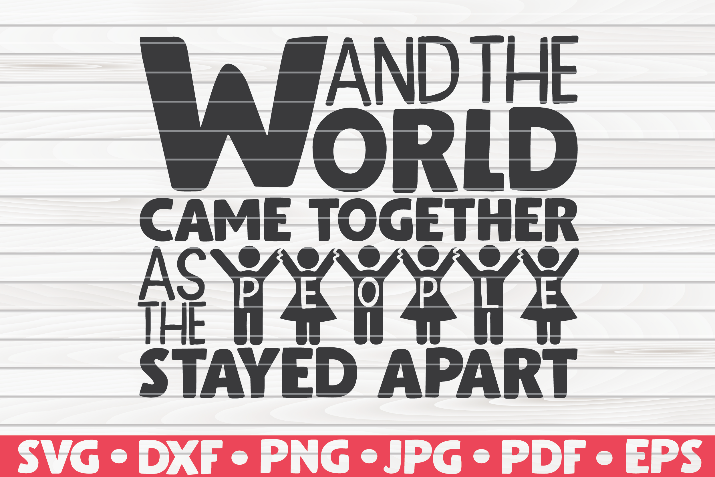 Download Free And The World Came Together Graphic By Mihaibadea95 Creative SVG Cut Files