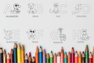 Print on Demand: Animal Alphabet from a to Z Graphic Coloring Pages & Books Kids By doridodesign