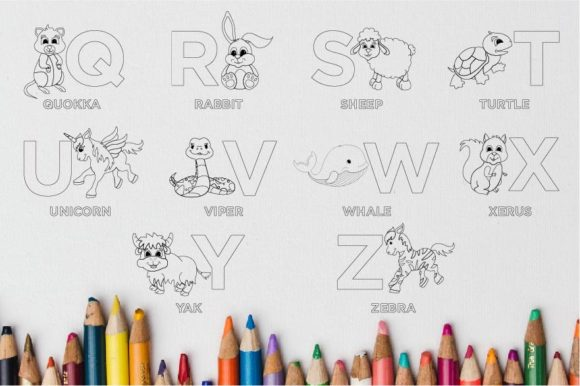 Download Free Animal Alphabet From A To Z Graphic By Doridodesign Creative for Cricut Explore, Silhouette and other cutting machines.